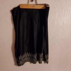NWT women's satin embroidered skirt